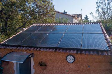 Panneaux photovoltaïques installés